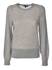 Theory - Cashmere pullover in melange light grey