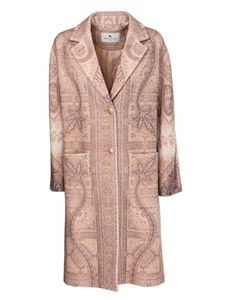 Etro - Classic coat in wool and cashmere in multicolor