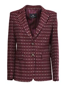 Etro - Patterned tailored jacket in multicolor