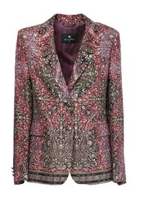 Etro - Tailored jacket with paisley pattern in multicolor