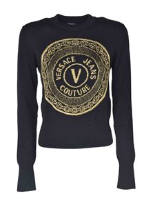 Versace Jeans Couture - Maxi logo sweatshirt in black