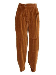 Etro - Smooth cotton velvet trousers in brown