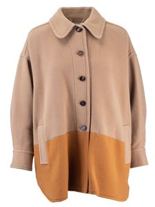 Chloé - Color block jacket in beige and orange