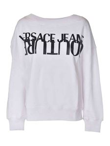 Versace Jeans Couture - Black logo print sweatshirt in white