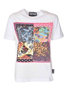 Versace Jeans Couture - Multicolor print t-shirt in white