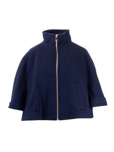 Chloé - Boxy wool jacket in Evening Blue