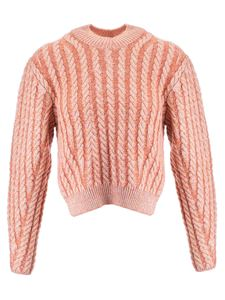 Chloé - Cable pullover in Desert Sun color