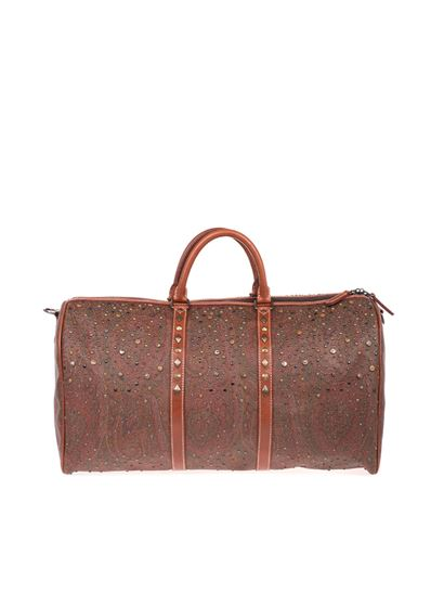 Etro - Paisley travel bag with studs