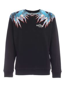 Marcelo Burlon County Of Milan - Multicolor Sea Snail print sweatshirt in black