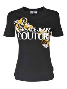 Versace Jeans Couture - Baroque logo detail t-shirt in black