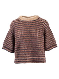 Chloé - T-shirt in maglia di mohair color Dusty Camel
