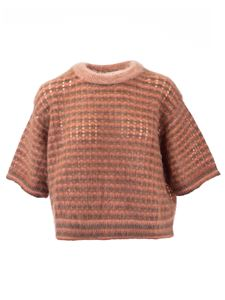 Chloé - Mohair knit T-shirt in Light Coral color