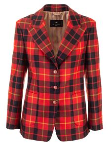 Etro - Tartan jacket in red