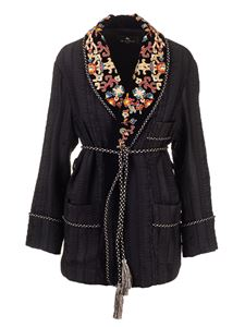 Etro - Embroidered Kimono jacket in black