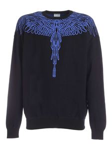Marcelo Burlon County Of Milan - Pictorial Wings Knit Boxy sweatshirt in black