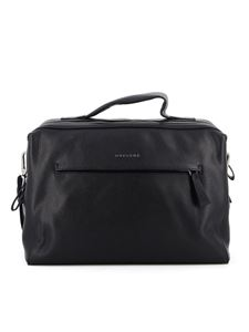 Orciani - Bond Micron hammered leather briefcase in black