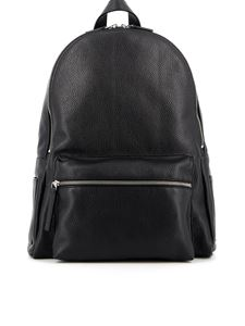 Orciani - Micron grainy leather backpack in black