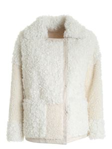 Diego M - Reversible double-breasted coat in white