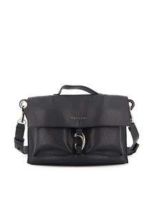 Orciani - Scout Micron hammered leather bag in black