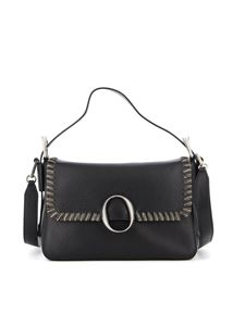 Orciani - Fan Soft Chain leather bag in black