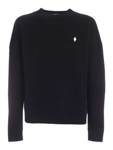 Marcelo Burlon County Of Milan - Embroidered logo MBCM pullover in black