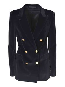 Tagliatore - Double-breasted jacket in black velvet
