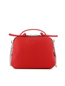 Orciani - Soft hammered leather cross body bag in red