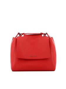 Orciani - Sveva small hammered leather  bag in red