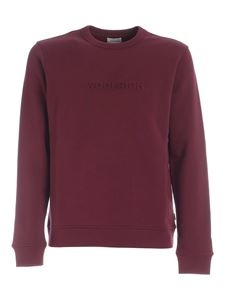 Woolrich - Embossed logo sweatshirt in burgundy
