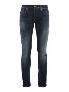 Dondup - Destroyed detailed jeans in blue