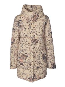 Etro - Floral print down jacket in cream color