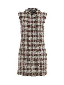 Dolce & Gabbana - Tweed bouclé gilet in multicolor