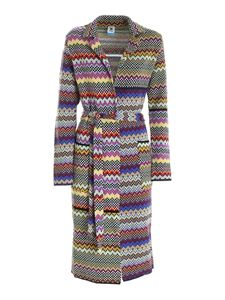 M Missoni - Knitted multicolor single-breasted coat
