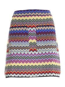 M Missoni - Gonna corta in maglia multicolor