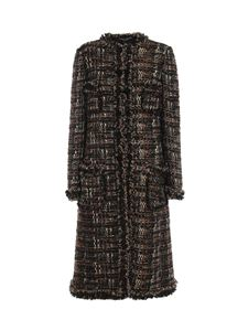 Dolce & Gabbana - Tweed bouclé coat in brown