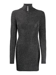 GCDS - Short dress with funnel neck in black