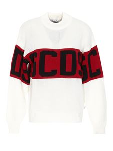 GCDS - Wool blend crewneck with inlaid in white