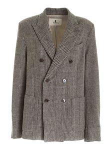Barena - Prince of Wales check jacket in beige and black
