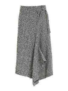 Y's Yohji Yamamoto - Prince of Wales check skirt in black and white