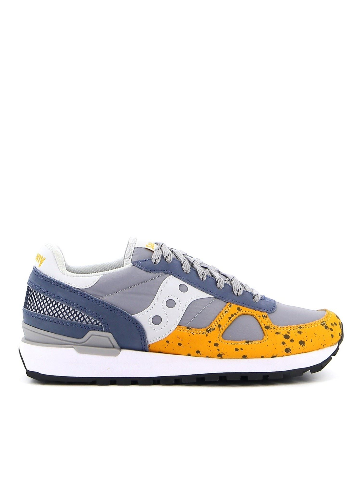 Saucony Leathers SHADOW ORIGINAL LEATHER AND FABRIC SNEAKERS IN MULTICOLOR