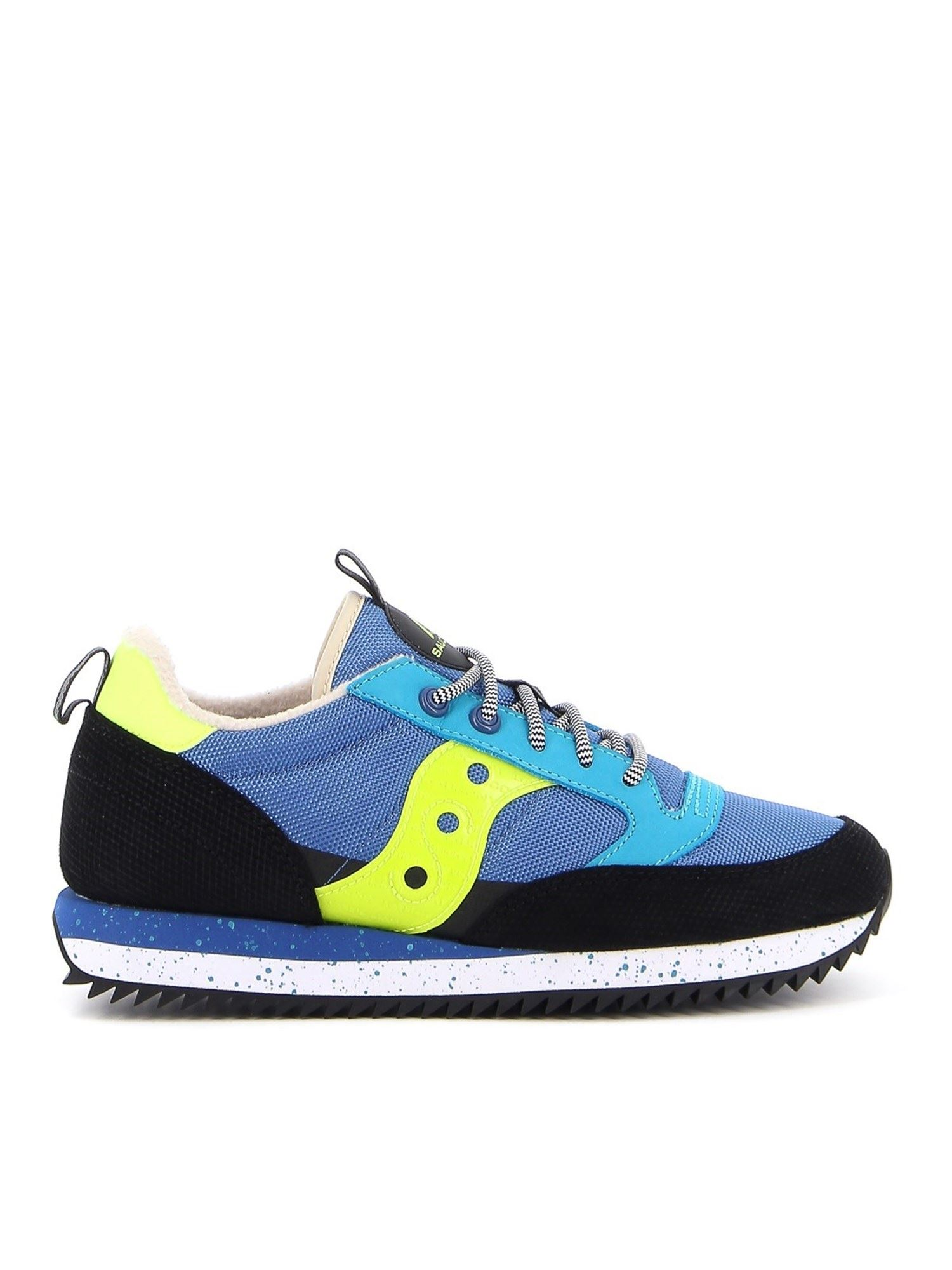 SAUCONY JAZZ ORIGINAL MESH AND LEATHER SNEAKERS IN BLUE