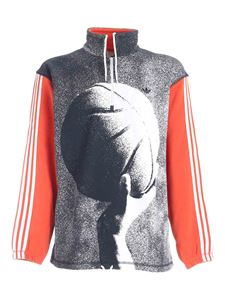 Adidas Originals - Streetball Half sweatshirt in orange and blue