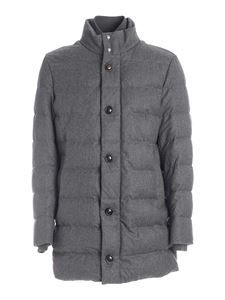 Moncler - Baudier quilted down jacket in grey