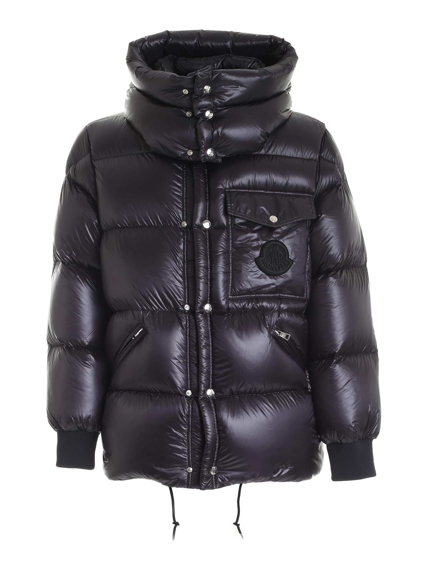 Moncler LAMENTIN BLACK DOWN JACKET WITH HOOD