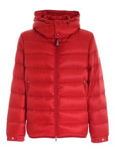 Moncler - Verte red down jacket with rear branded band
