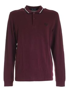 Fred Perry - Polo Twin Tipped color vinaccia