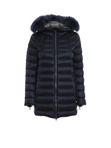Colmar Originals - Quilted padded hooded coat in blue