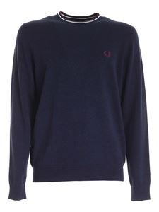 Fred Perry - Pullover Classic blu melange