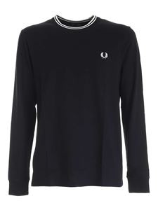 Fred Perry - T-shirt Twin Tipped nera