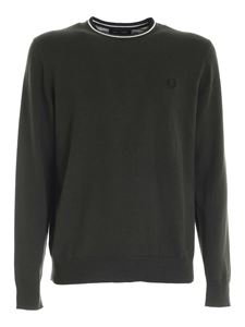 Fred Perry - Pullover Classic verde militare